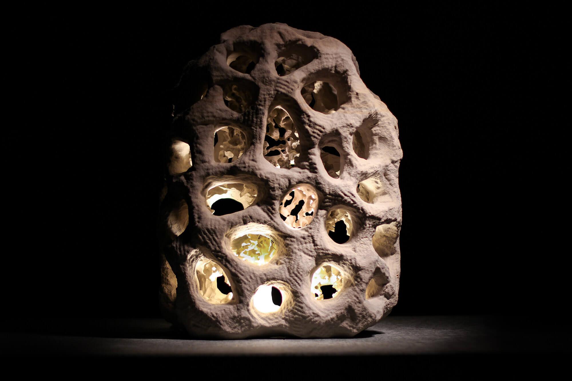 Sandstein-Lampe