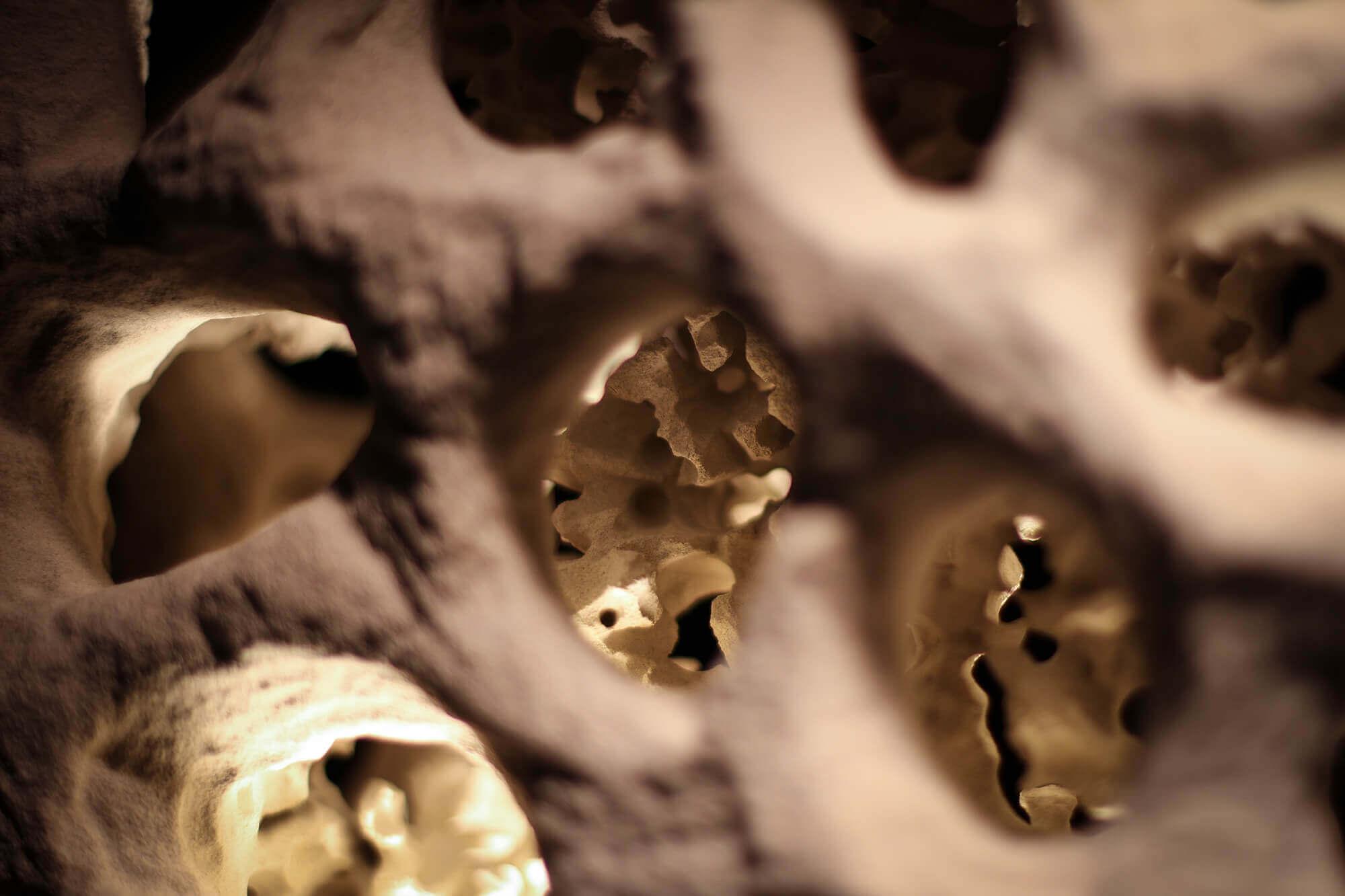 Sandstein-Lampe Detailaufnahme