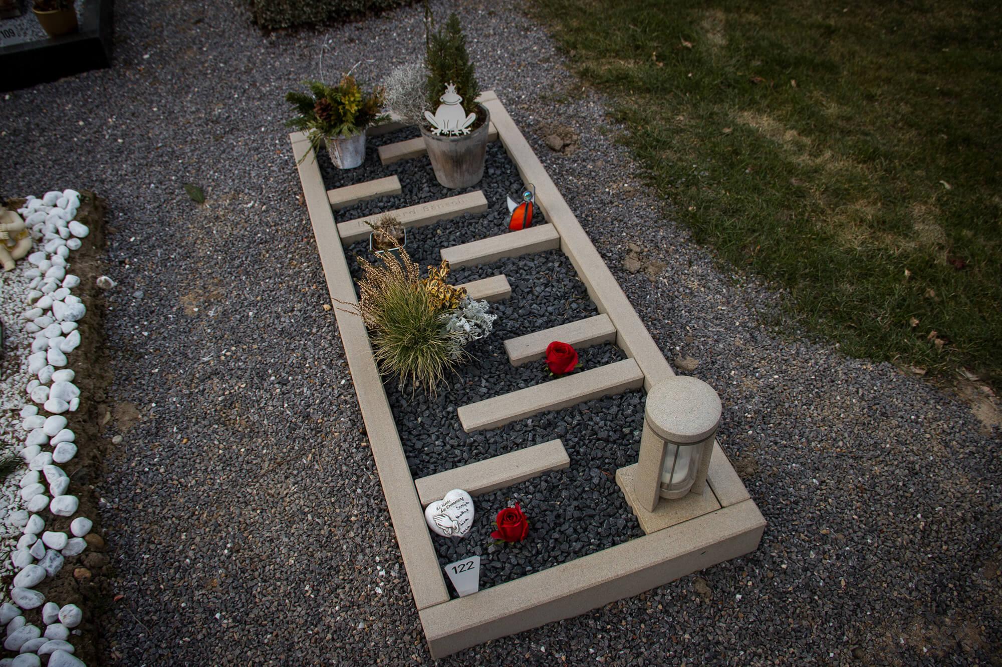 Grabanlage – Ansicht von pben