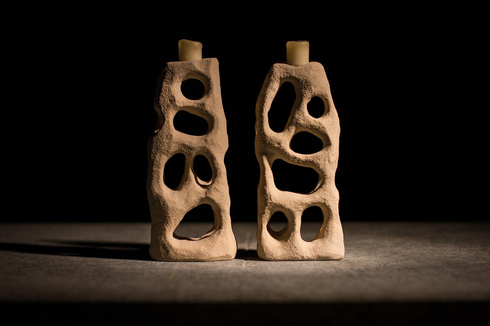 Kerzenständer aus Sandstein