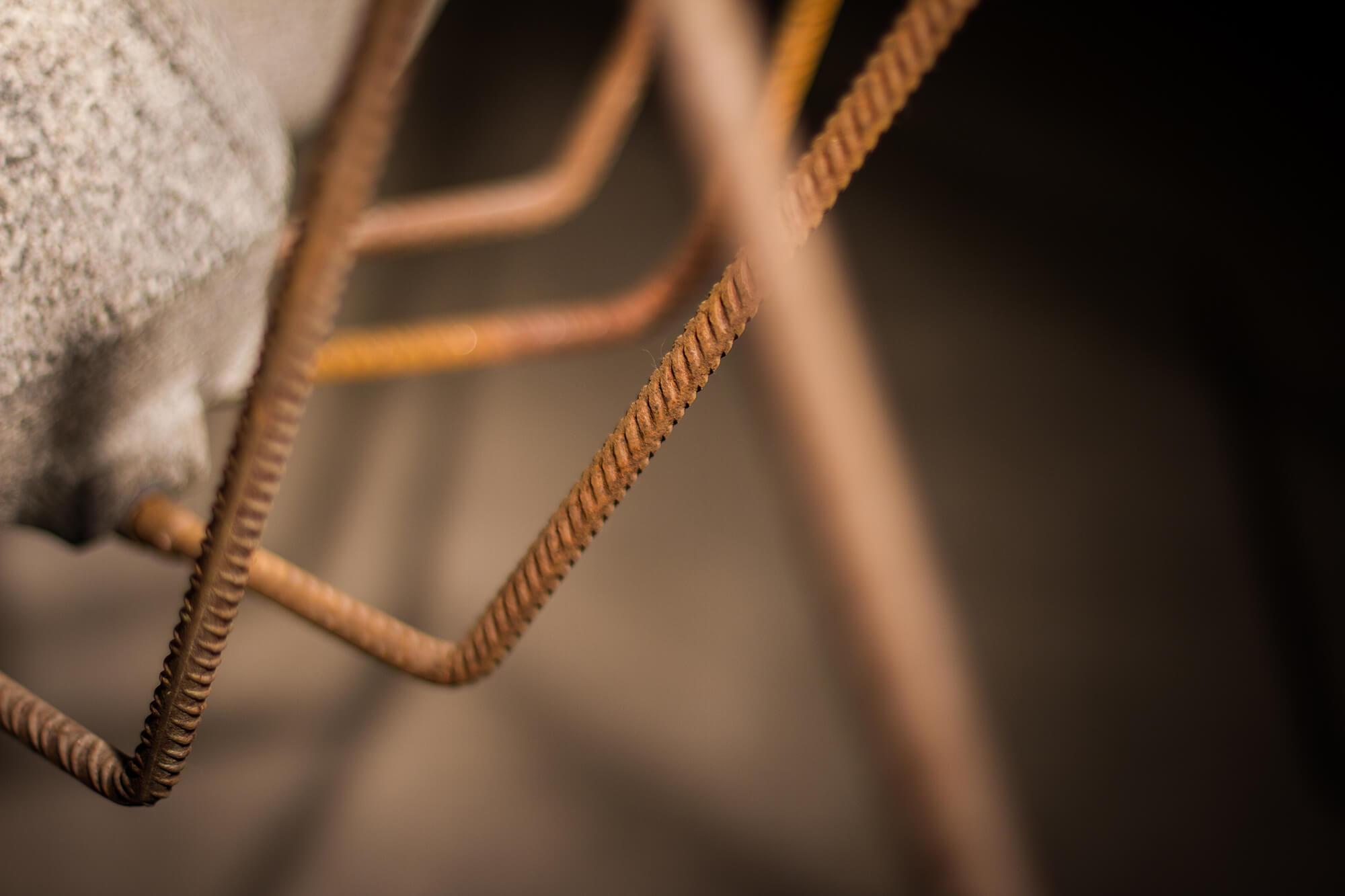 Stahlbeine Detailaufnahme